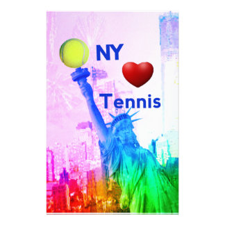 Liberty Statue loves tennis Stationery