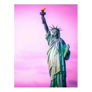 Liberty statue New York Postcard