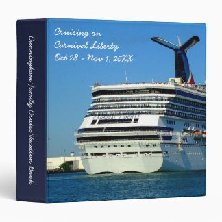 Liberty Stern Custom Cruise Memory Book 3 Ring Binder