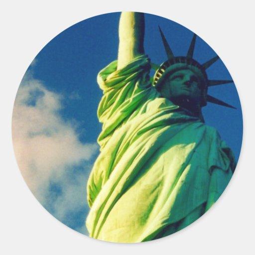 liberty round stickers