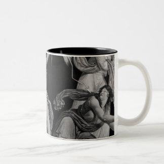 Liberty, striking down Ignorance and Fantacism Two-Tone Coffee Mug
