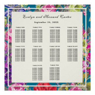Liberty Style Cottage Garden | Seating Plan Poster