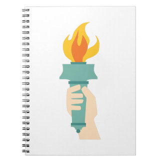Liberty Torch Spiral Notebook
