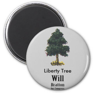 Liberty Tree, Will Bratton for Congress 2 Inch Round Magnet