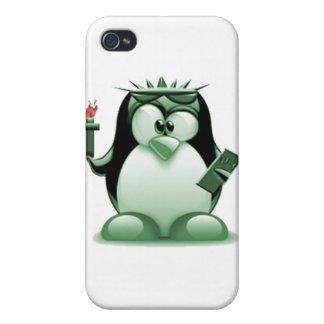 Liberty Tux (Linux Tux) iPhone 4 Case