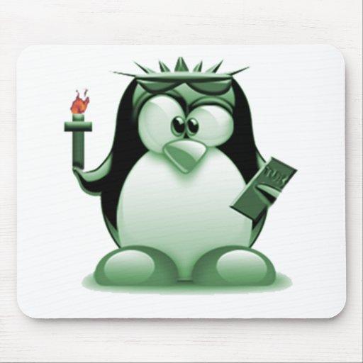 Liberty Tux (Linux Tux) Mouse Pad