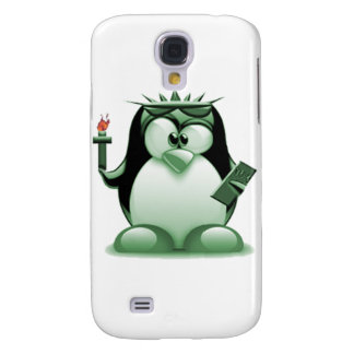 Liberty Tux (Linux Tux) Samsung Galaxy S4 Cover