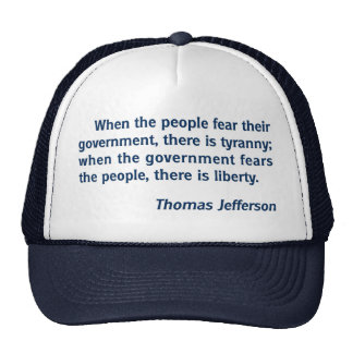 Liberty - Tyranny: Thomas Jefferson Quote Mesh Hat