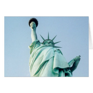 liberty up view greeting card