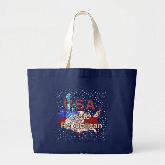 Liberty Vote Republican Large Tote Bag