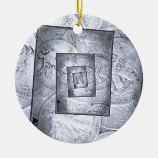Liberty Walking Into Infinity Ceramic Ornament