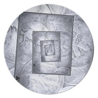 Liberty Walking Into Infinity Melamine Plate