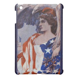 Liberty with Eagle Draped in Stars & Stripes iPad Mini Cases
