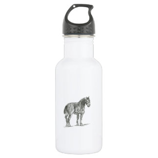Liberty with Horse Illustration Water Bottle