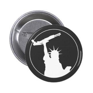 Liberty with Shotgun 2 Inch Round Button