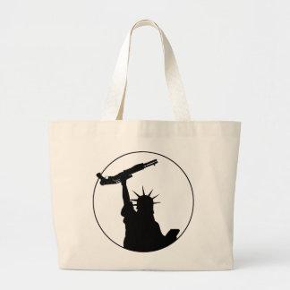 Liberty with Shotgun Jumbo Tote Bag