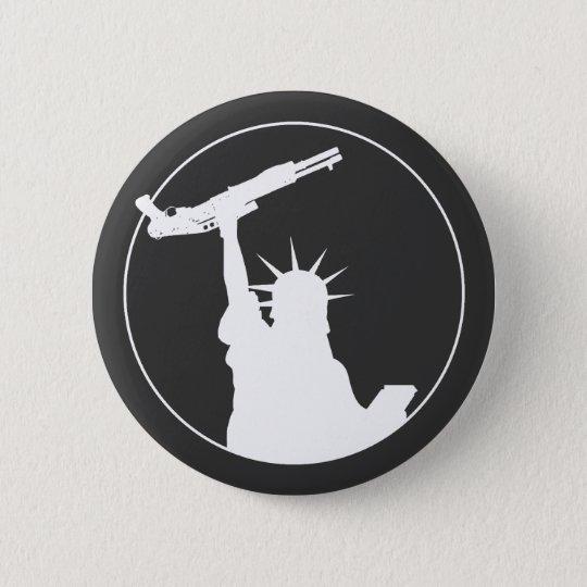 Liberty with Shotgun Pinback Button
