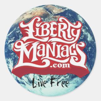 LibertyManiacs.com Sticker