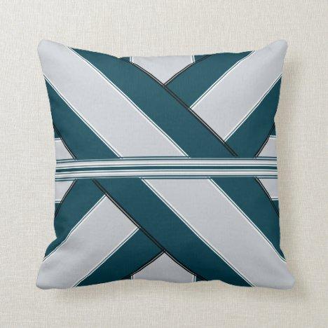 Liberty's Green Gift-Wrap Design Throw Pillow