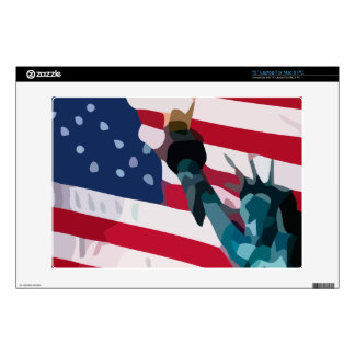 "Libery and the united States flag 13"" Laptop Skins"