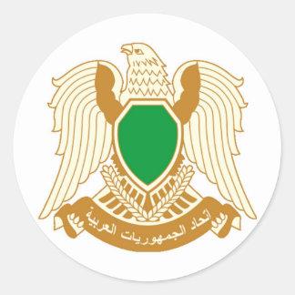 Libia - ليبيا pegatina redonda