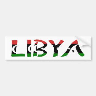 Libia FlagWord Pegatina De Parachoque