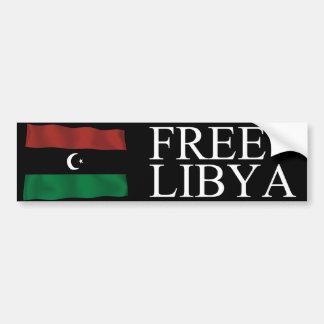 Libia libre pegatina de parachoque
