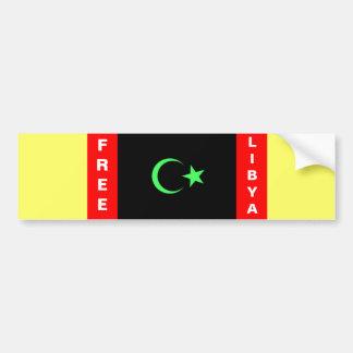 LIBIA LIBRE PEGATINA PARA AUTO
