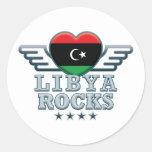 Libia oscila v2 etiqueta redonda
