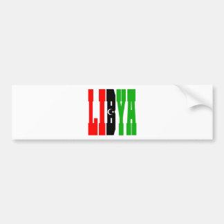 Libia Pegatina De Parachoque