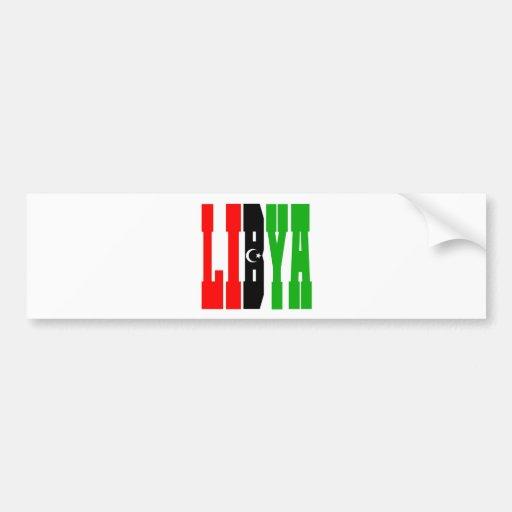Libia Pegatina Para Auto