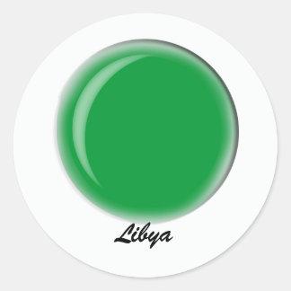 Libia Pegatina Redonda