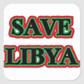 Libia - reserva Libia Pegatina Cuadrada