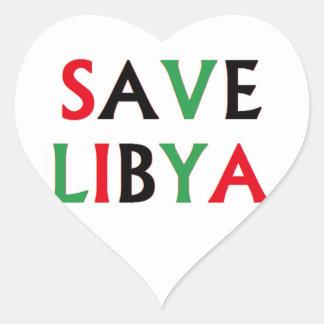 Libia - reserva Libia Pegatina En Forma De Corazón