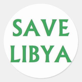 Libia - reserva Libia Pegatina Redonda