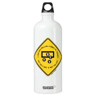 LIBOR $350 Trillion Financial Scandal Warning Sign Aluminum Water Bottle