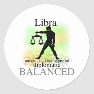Libra About You Classic Round Sticker