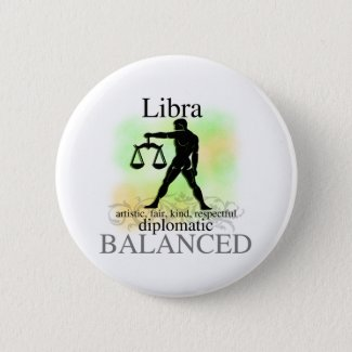 Libra About You Pinback Button