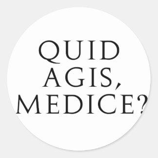 ¿Libra Agis, Medice? Pegatinas Redondas