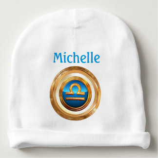 Libra Astrological Sign Baby Beanie