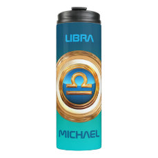Libra Astrological Sign Thermal Tumbler