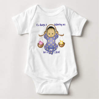 Libra Astrology Baby - almond eyes - Baby Bodysuit