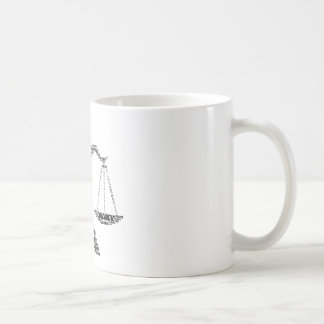 Libra Astrology Zodiac Sign Word Cloud Coffee Mug