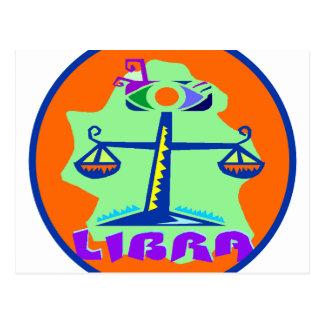 Libra Badge Postcard