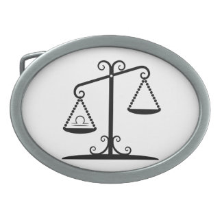 libra balance scales zodiac astrology horoscope belt buckle