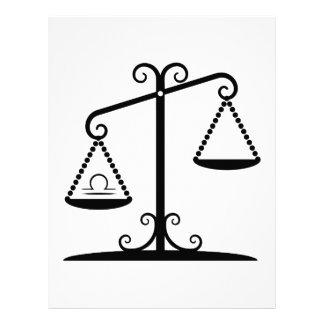 """libra balance scales zodiac astrology horoscope 8.5"""" x 11"""" flyer"""