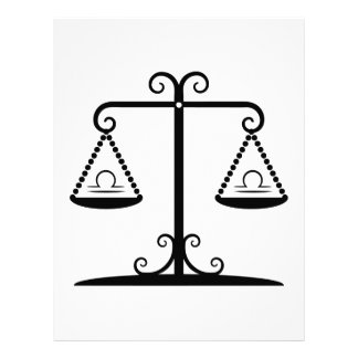 libra balance scales zodiac astrology horoscope flyer
