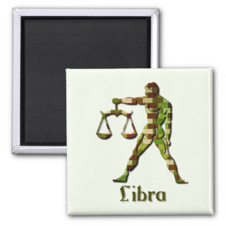 Libra Balance Square Magnet Magnets