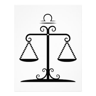 "libra balanced scales astrology zodiac 8.5"" x 11"" flyer"