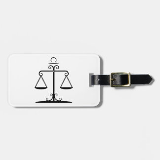 libra balanced scales astrology zodiac tags for bags